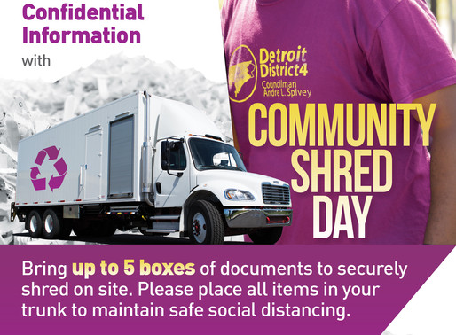 Community Shred Day, Sept. 24