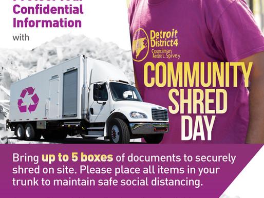 Community Shred Day, Sept. 24