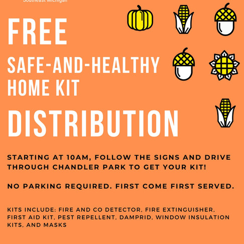 FREE SAFE AND HEALTHY HOME KITS, OCT 24TH