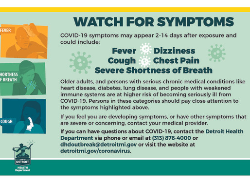 Watch for Symptoms