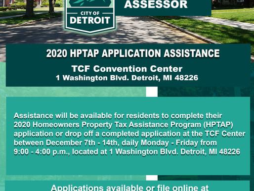 Property Tax Assistance Program, Dec. 7-14