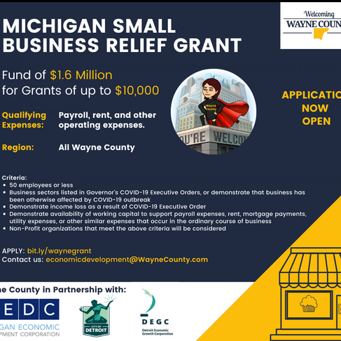 Michigan Small Business Relief Grant