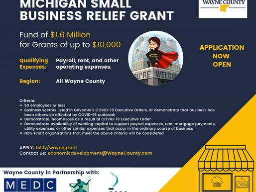 Michigan Small Business Relief Grant