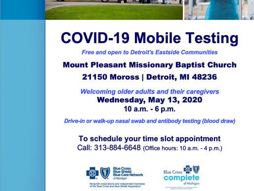 COVID-19 Mobile Testing in D4, May 13th
