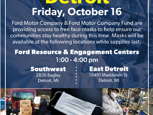 Ford PPE Day, Oct. 16th