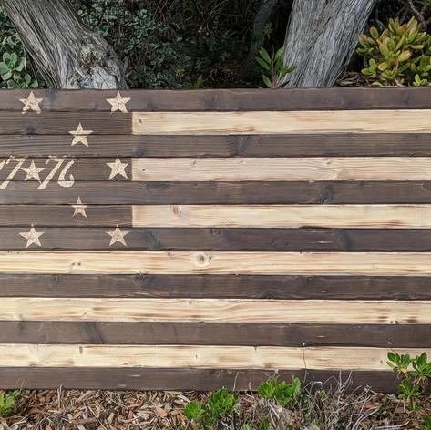 1776 Battle Torn Flag