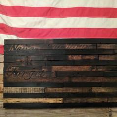 September 11th Tribute Pallet Flag