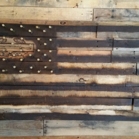 Army CIB with .308 Pallet Flag