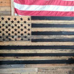 Burnt Stars Pallet Flag