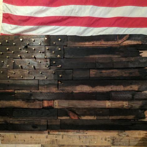 Battle Torn .45 ACP Pallet Flag