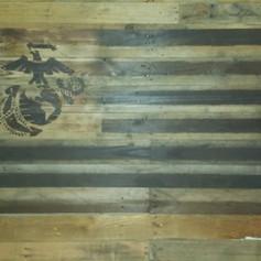 U.S.M.C. Batte Torn Flag