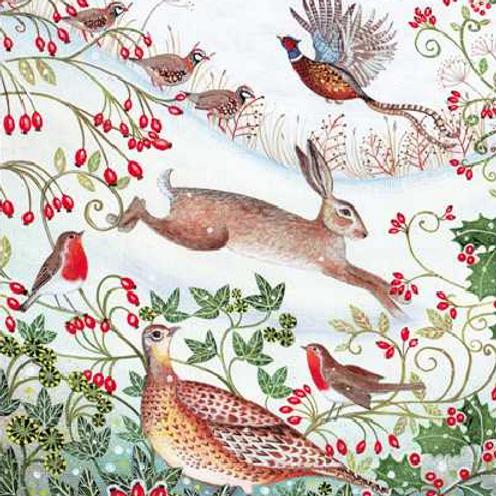 Winter Animals Christmas Cards Box of 8