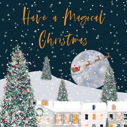 Santa's Sleigh Ride Christmas Cards Box of 8