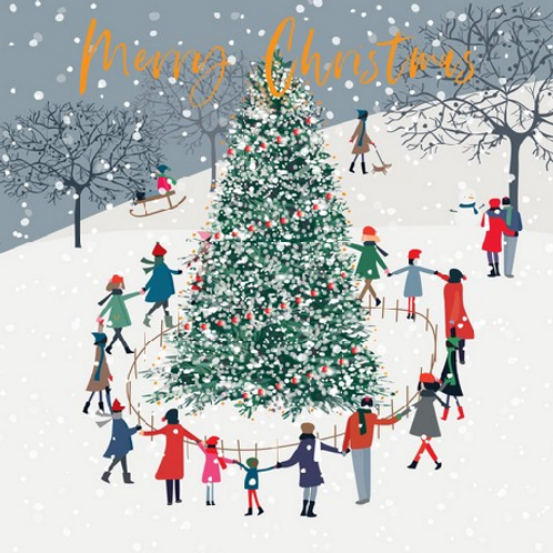 Snowy Christmas Trees Christmas Cards Box of 8