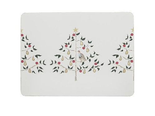 Partridge In A Pear Tree Placemats Set Of 4