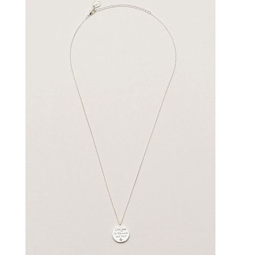 Estella Bartlett I Love You To The Moon And Back Necklace