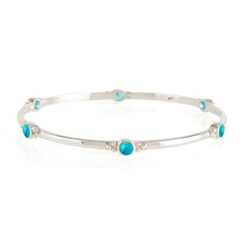 Charlotte's Web Holi Jewel Turquoise Bangle