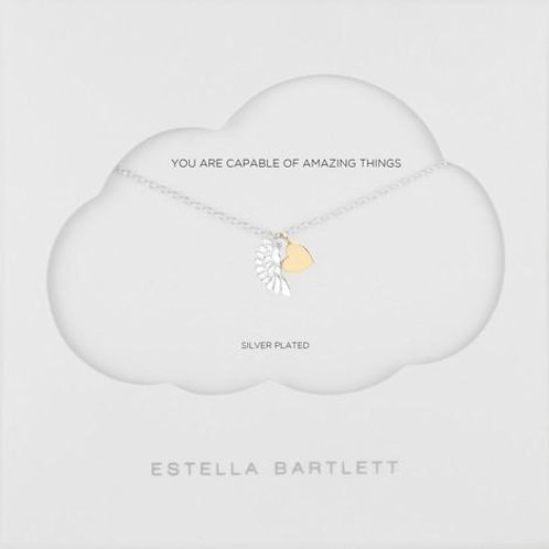 Estella Bartlett Wing And Heart Necklace