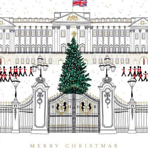 Buckingham Palace Christmas Cards Pack of 5