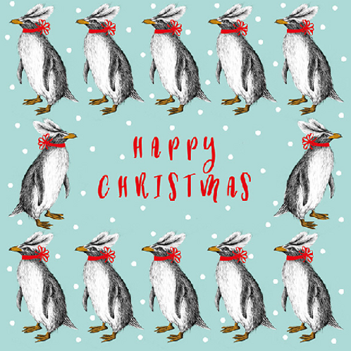 Penguins Christmas Card Pack of 6