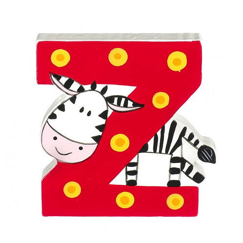 Wooden Cartoon Letter Z