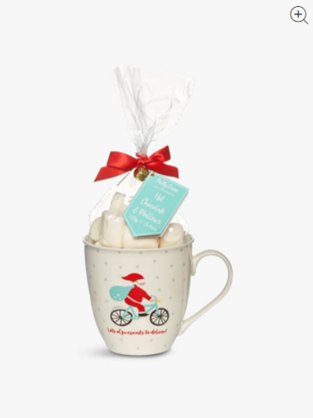 Elf & Santa Hot Chocolate Mug with Marshmallows