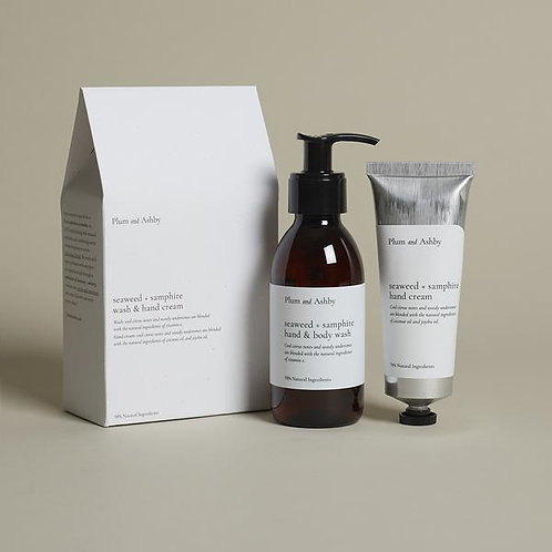 Plum And Ashby Seaweed And Samphire Body Wash And Cream Set