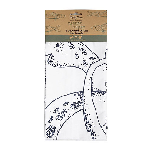 Milly Green Ocean Eco Tea Towels Set Of 2