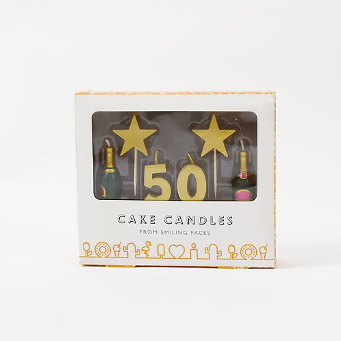 50 Stars And Bottles Candles