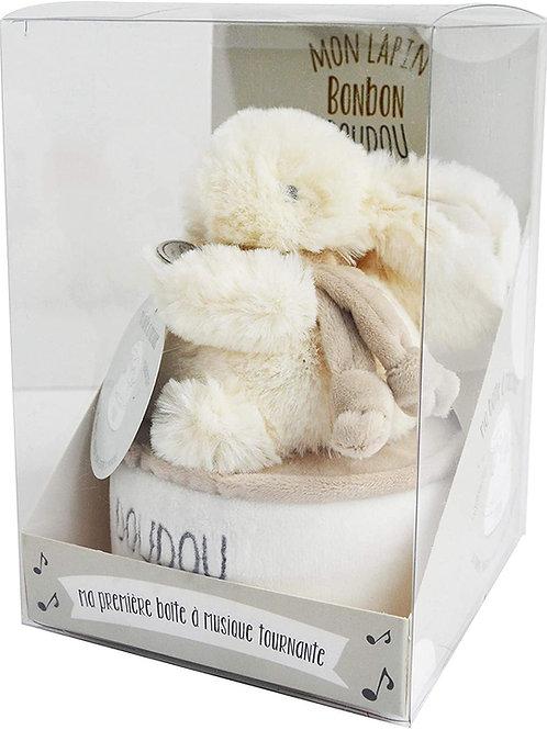 DouDou Bunny Music Music Box Taupe