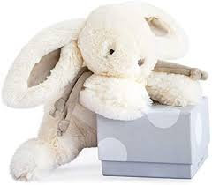 DouDou Boxed Bunny Taupe 25cm