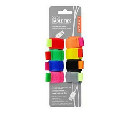 Multi- Coloured Cable Ties 8 Pack