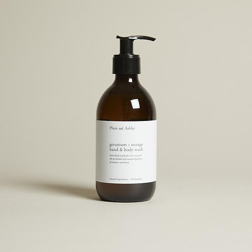 Plum And Ashby Orange And Geranium Hand And Body Wash
