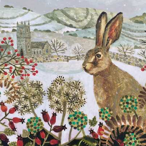 Winter Hare Christmas Card Pack of 5