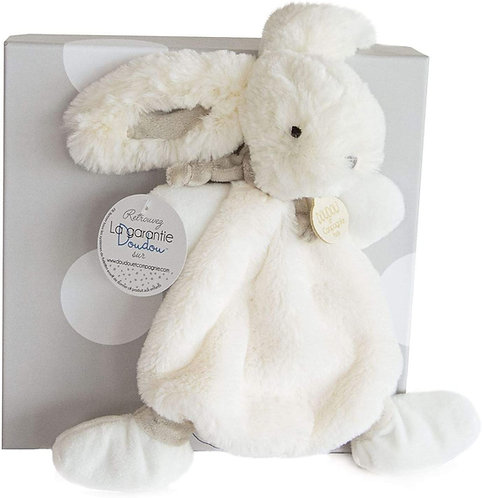 DouDou Taupe Bunny Comforter Boxed