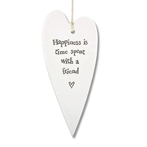 East of India Friend Hanging Heart Decoration
