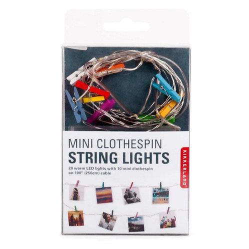 Mini Clothes Peg String Battery Lights