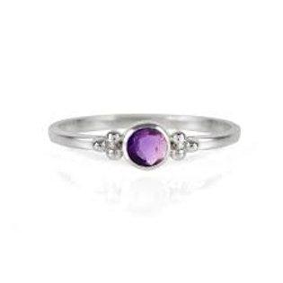 Charlotte's Web Holi Jewel Stacking Ring Amathyst