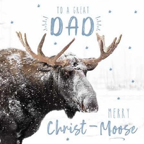 Christ-Moose Great Dad Christmas Card