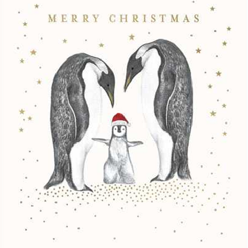 Penguin Family Time Christmas Card pack of 5