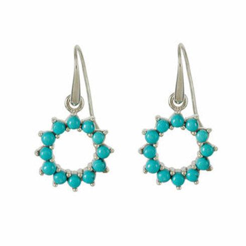 Charlotte's Web Halo Radiance Turquoise Drop Earrings