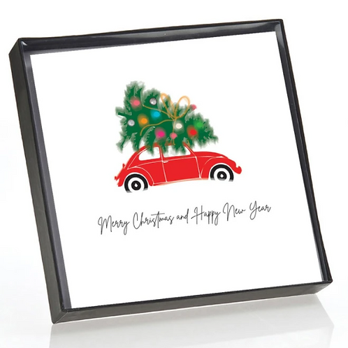 Red Beetle Christmas Cards Box of 6