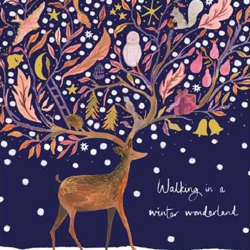 Walking in a Winter Wonderland Christmas Card Pack of 5