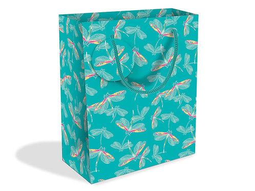 Dragonflies Aqua Gift Bag Medium
