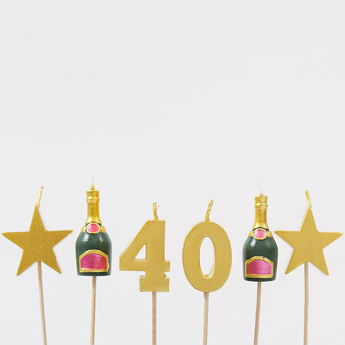 40 Stars And Bottles Candles