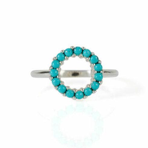 Charlotte's Web Halo Radiance Turquoise Ring