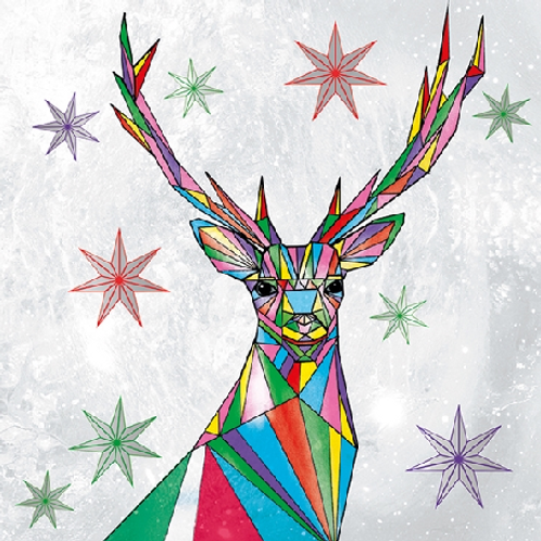 Stag Christmas Card Pack of 5