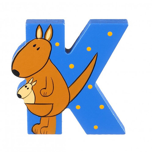 Wooden Cartoon Letter K