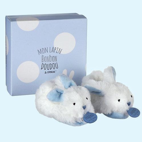 DouDou Blue Bunny Rattle Booties