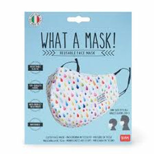 Face Mask Rainbow Droplets